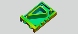rendered injection molding part