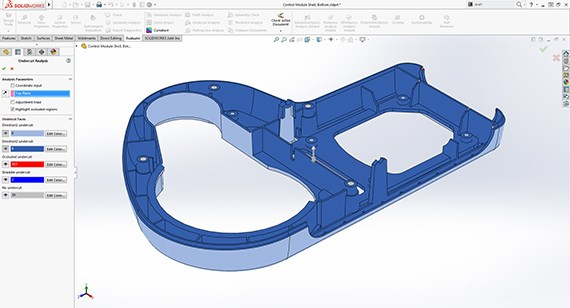 SOLIDWORKS Undercut Analysis Tool