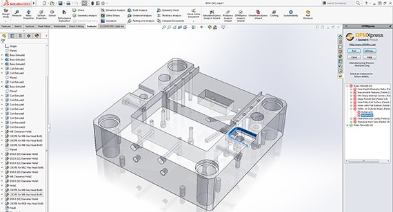 SOLIDWORKS DFMXPress for CNC Machining Design