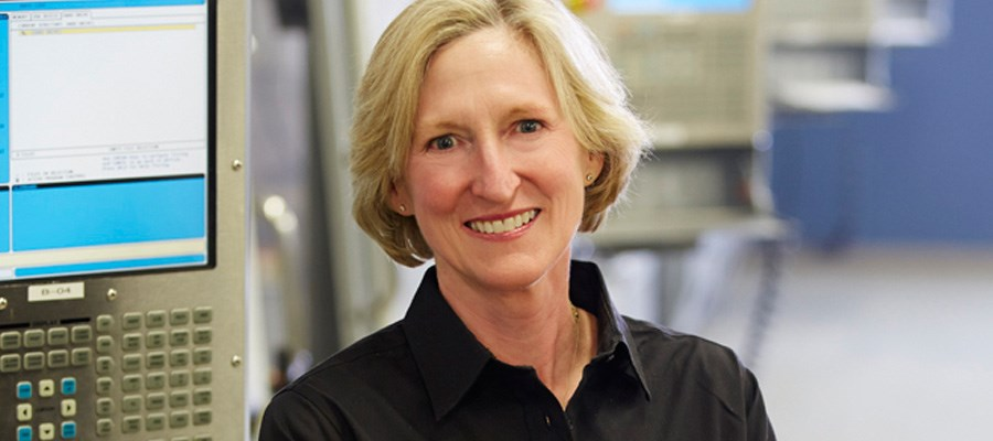 vicki holt headshot in Protolabs digital manufacturing plant