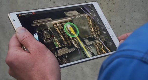 Tablet with augmented reality app