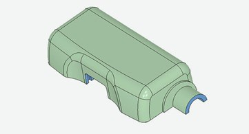 injection molded casing part for vision device