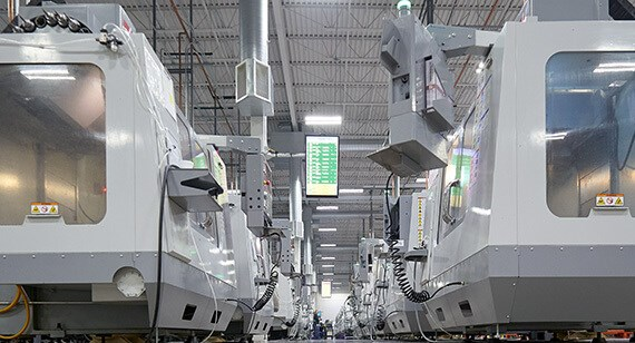 picture of digital manufacturing floor at Protolabs