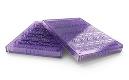 purple injection molded part