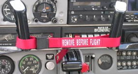 remove before flight aircraft controls
