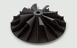 black 3d printed mjf impeller