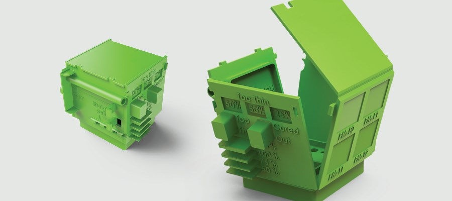 green protolabs design cube