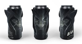 Black Panther character water cans with 3D printed mask covering