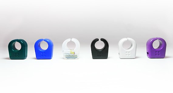 various color options of Specdrums injection molded parts