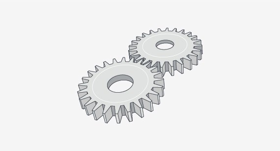 molded plastic gears illustration of friction and wear