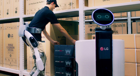 LG recently introduced its wearable robot product.