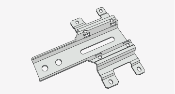 Tolerances vary on depending on part feature such as bends, offsets, holes, and inserted hardware.