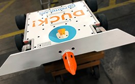 Battlebots DUCK! robot manufactured by Protolabs