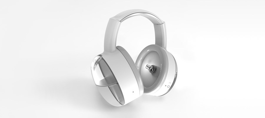 Safkan ear cleaning headphones manufactured using Protolabs PolyJet 3D Printing and CNC  machining