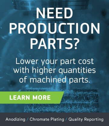 cnc production banner offering at protolabs