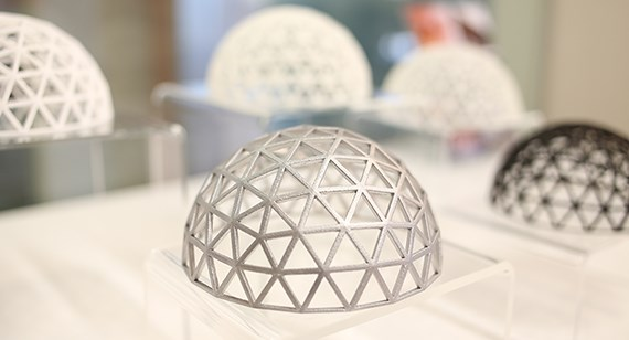 3d printed latticed dome