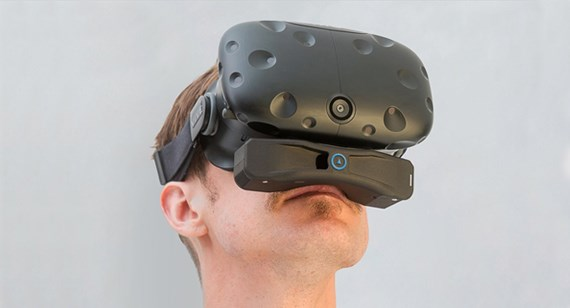 OVR Technology's OX1 is a wireless, patented device that attaches to the bottom of a VR display.