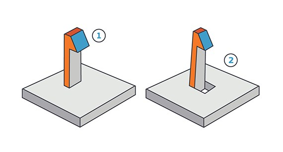 Clip design on injection-molded part
