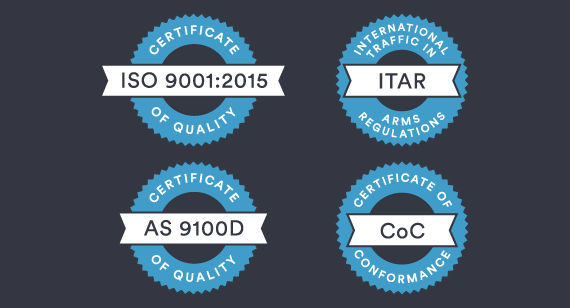 Quality and compliance certifications