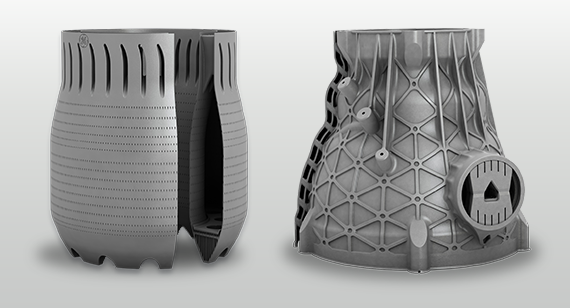 Large-format additively manufactured parts