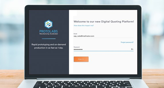 Welcome to Protolabs' new ecommerce system