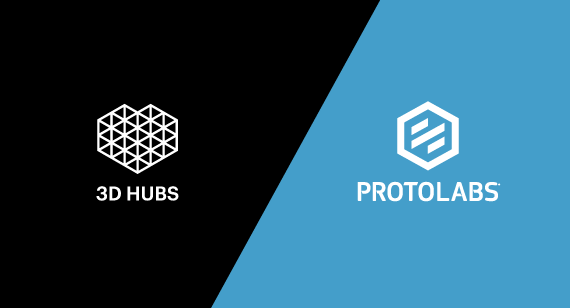 Protolabs and 3D Hubs logos
