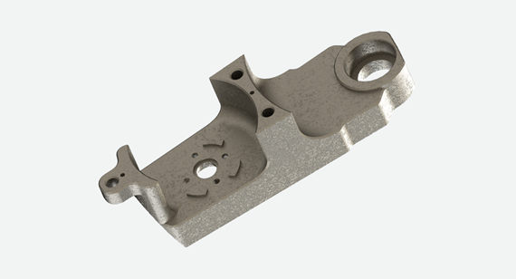 Machined Magnesium Top Plate for Robot