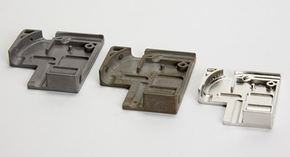 Metal injection-molded parts during post-processing