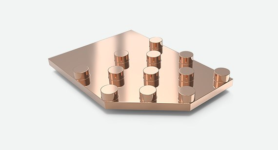 Machined copper part for use in aerospace