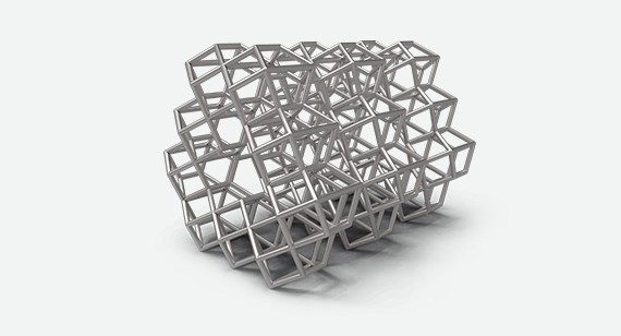 Complex titanium prototype built by DMLS.