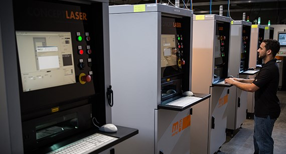 Metal 3D printing machines at Protolabs