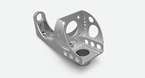 DMLS aluminum design with difficult to machine geometry