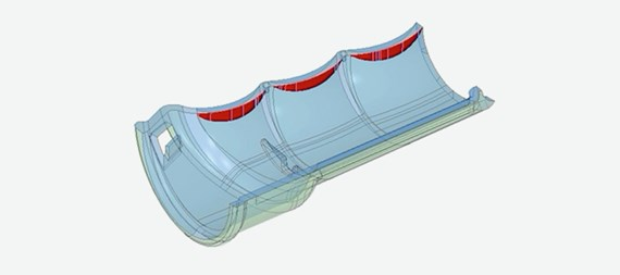 Example of interactive CAD model