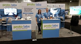 Protolabs booth with staff