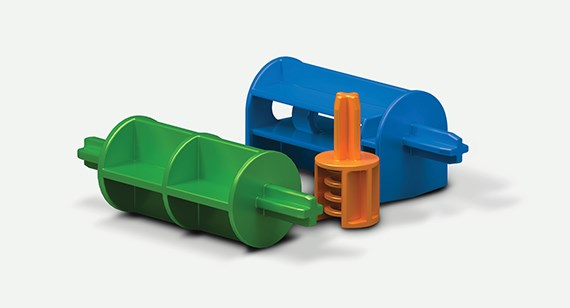 different color jigs for manufacturing equipment