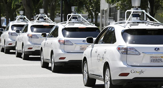 self-driving cars with roof mounted optical systems