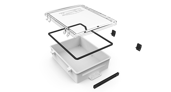 farmbot plastic mold case expanded in specific parts